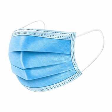 100x beschermende mondkapjes blauw masker