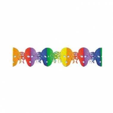 3 meter lange slinger met gekleurde maskers