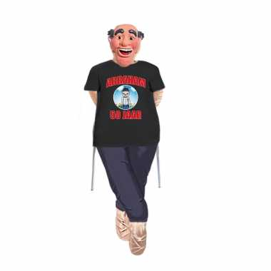 Abraham pop opvulbaar compleet met abraham pop shirt en masker