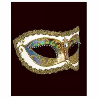 Barok oogmasker wit handgemaakt