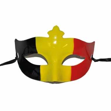Belgische vlag oogmasker