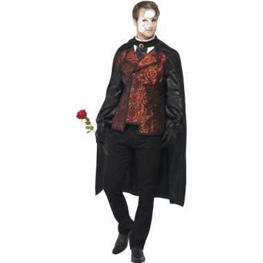 Carnaval Dark Opera kostuum voor heren masker