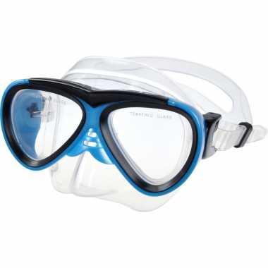 Duikmasker duikbril pvc blauw voor kinderen
