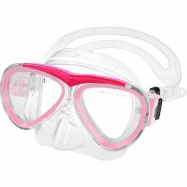 Duikmasker/duikbril pvc roze voor kinderen