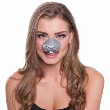 Feestartikelen konijnen neus masker
