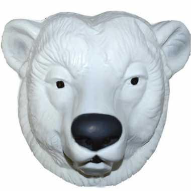 Feestmasker ijsbeer wit voor volwassenen