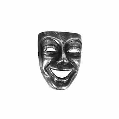 Gezichtsmasker zilver zwart