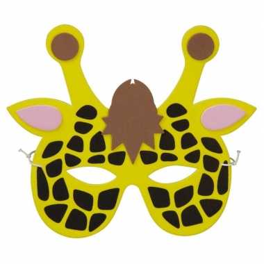 Giraf foam masker voor kinderen
