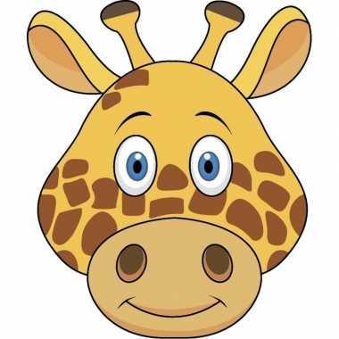 Giraffe maskers van karton
