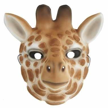 Giraffe verkleed dierenmasker voor kinderen