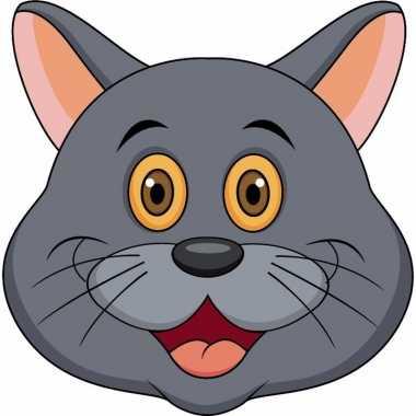 Grijze katten maskers van karton