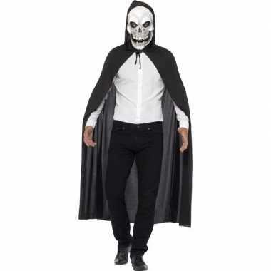 Halloween cape met doodshoofd masker