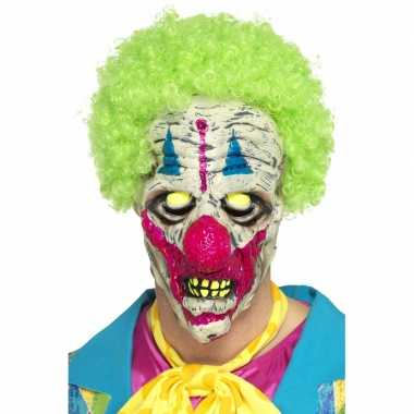 Halloween - glow in the dark clowns masker