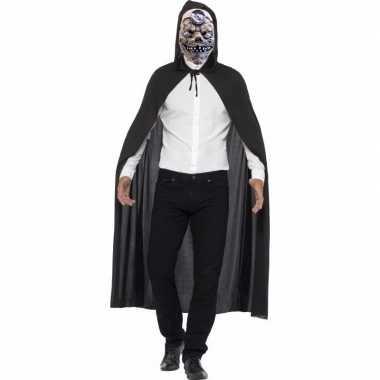 Halloween verkleed cape met mad doctor masker