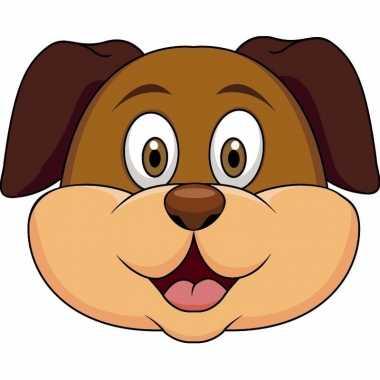 Honden maskers van karton