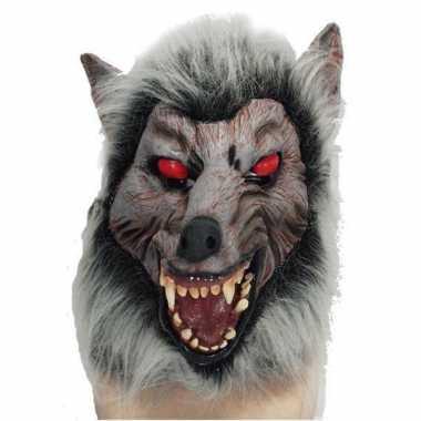 Horror dierenmasker weerwolf
