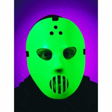 Horror glow in the dark hockey masker