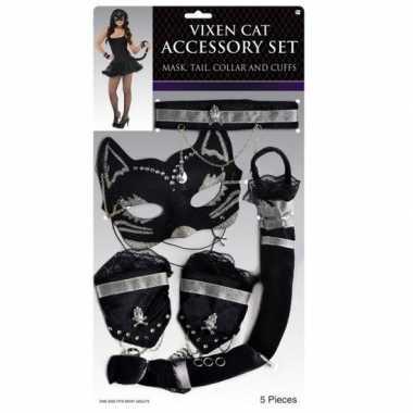 Katten carnavalsaccessoires masker
