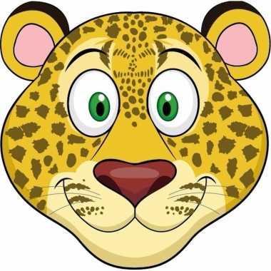 Luipaarden maskers van karton