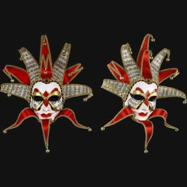 Muziek joker masker handgemaakt