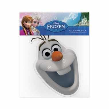 Olaf frozen kartonnen masker