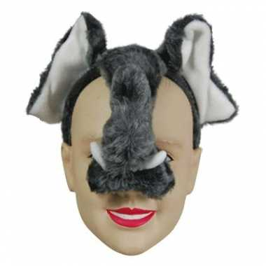 Olifant diadeem masker met geluid