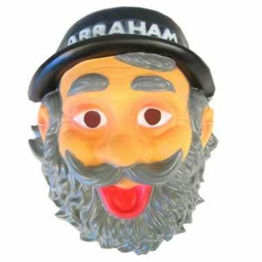 Opa abraham masker met snor