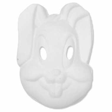 Papier mache knutsel masker konijn haas
