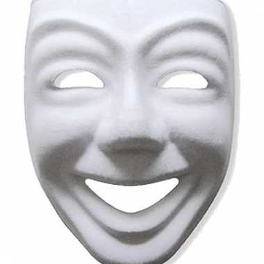 Papieren masker joker  wit