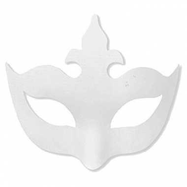 Papieren masker om zelf te beschilderen