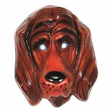 Plastic honden masker voor volwassenen