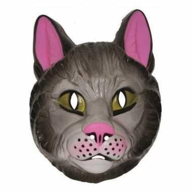 Plastic katten masker voor volwassenen