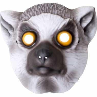 Ringstaart maki verkleed apen dierenmasker voor kinderen