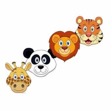 Safari maskers van karton