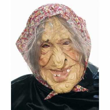 Sarah masker oude vrouw latex verkleed accessoire