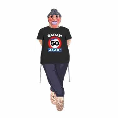 Sarah pop opvulbaar compleet met sarah stopbord 50 jaar pop shirt en masker