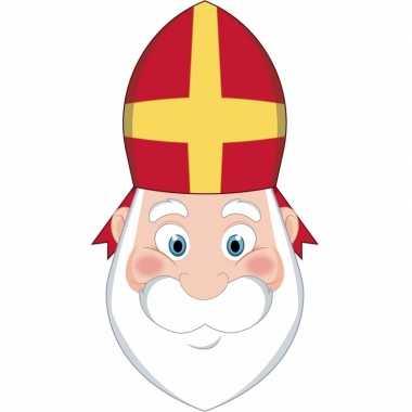 Sinterklaas - kartonnen sinterklaas masker voor kinderen