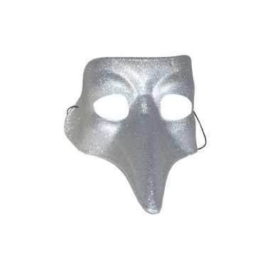 Snavel masker zilver