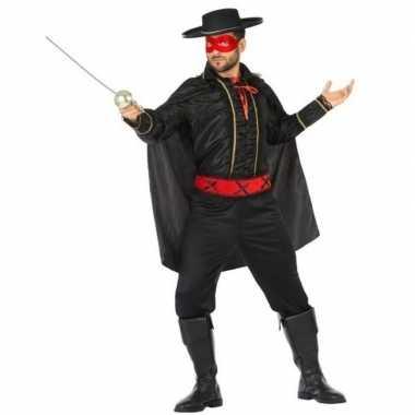 Spaanse gemaskerde held verkleed kostuum voor heren