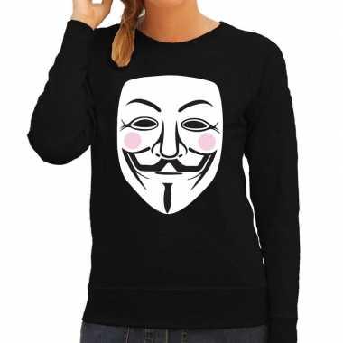 V for vendetta masker sweater zwart voor dames