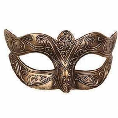 Venetiaans goud kunststof oogmasker