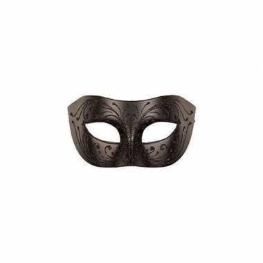 Venetiaans oogmasker zwart voor volwassenen