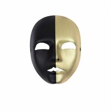 Verkleed masker zwart met goud