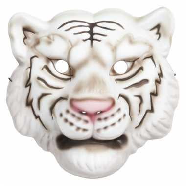 Verkleed wit tijger masker