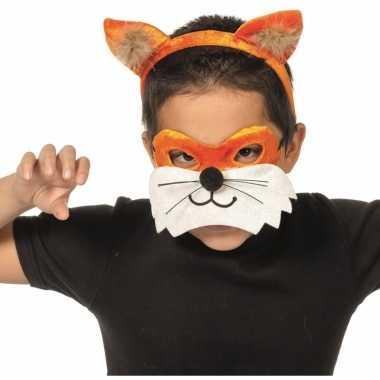 Verkleedsetje vos voor kinderen masker