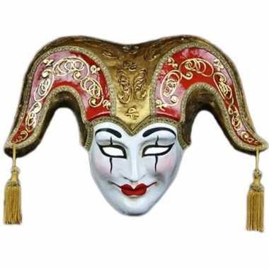 Vrolijke joker masker handgemaakt