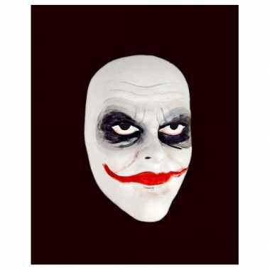 Wit Joker masker handgemaakt