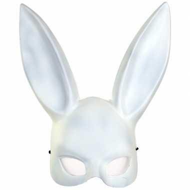 Wit konijnen hazen masker voor volwassenen