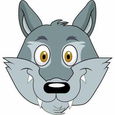 Wolf maskers van karton