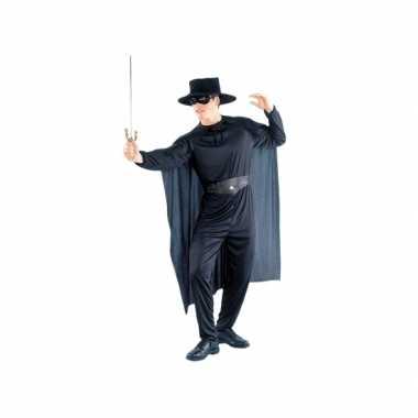 Zorro look-a-like verkleedpak voor heren masker